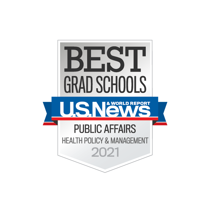 US News & World Report ranking 2021, Public Affairs in Health Policy and Management